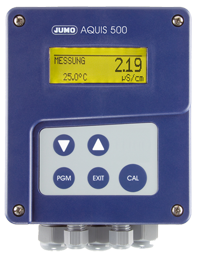 JUMO AQUIS 500 CR - transmitter / controller for conductivity, TDS, resistivity and temperature (202565)